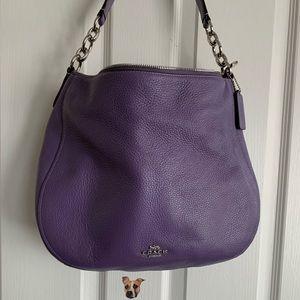 Coach large purple hobo